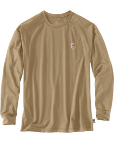 Carhartt Force Men's FR Long Sleeve T-Shirt, Beige/khaki, hi-res
