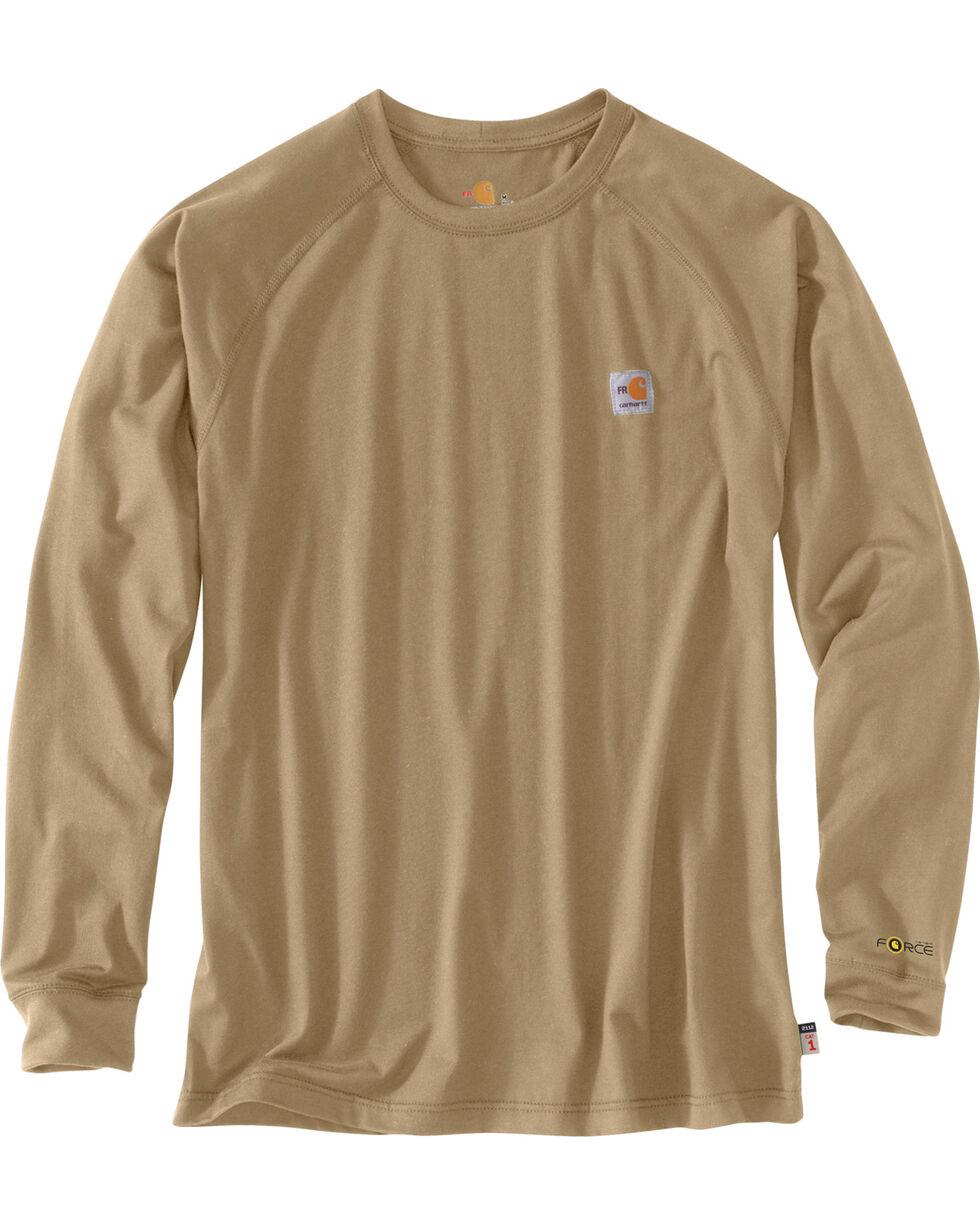 Carhartt Force Men's FR Long Sleeve T-Shirt, Beige/khaki, hi-res