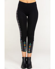 Johnny Was Women's Black Amaris Leggings, Black, hi-res
