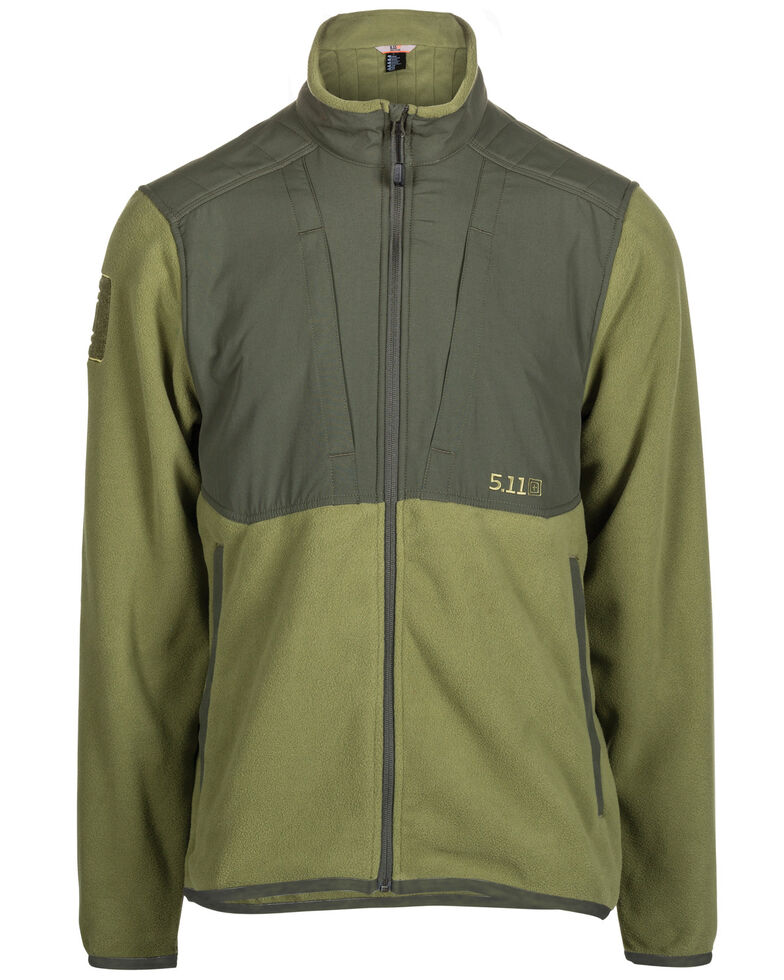 5.11 Tactical Men's Apollo Tech Fleece Work Jacket , Olive, hi-res