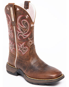 Shyanne Women's Lite Xero Gravity Western Boots - Wide Square Toe, Brown, hi-res