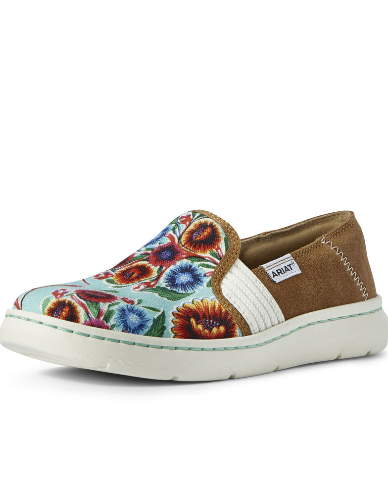 Ariat Women's Turquoise Ryder Shoes - Round Toe, Multi, hi-res