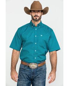 Ariat Men's Rodriguez Stretch Geo Print Short Sleeve Western Shirt  , Multi, hi-res