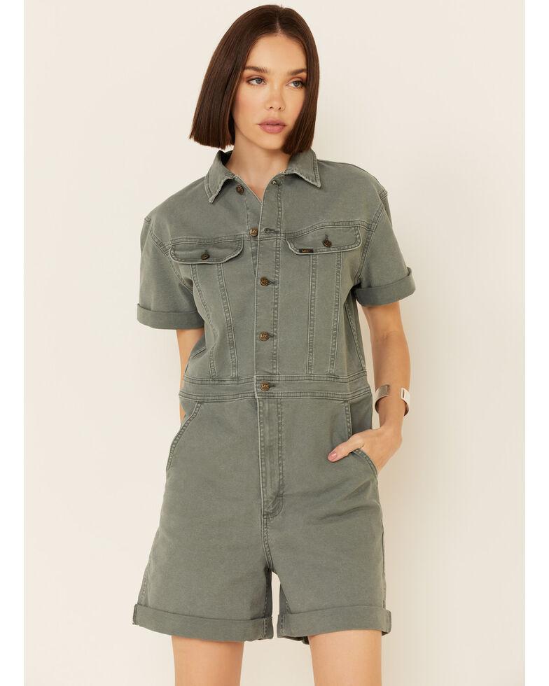 Lee Women's Modern Short Sleeve Coveralls, Olive, hi-res