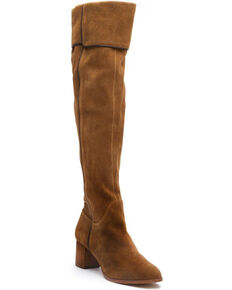 Matisse Women's Tan Piper Over The Knee Boots - Snip Toe, Tan, hi-res