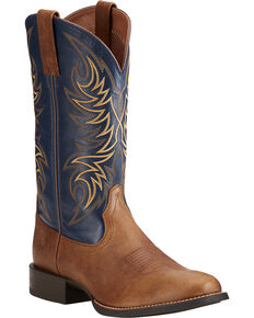 Ariat Men's Sport Horseman Western Boots, Tan, hi-res