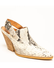 Free People Women's Silverton Slingback Western Booties, Tan, hi-res