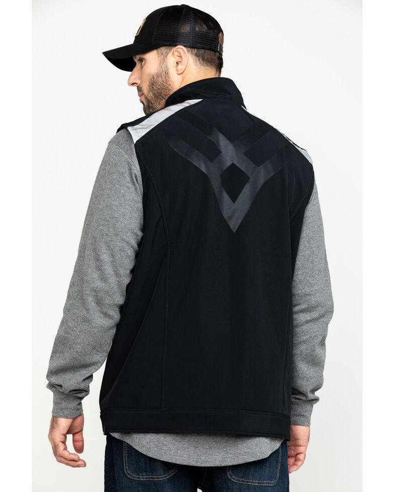 Hawx Men's Black Reflective Soft Shell Moto Work Vest , Black, hi-res