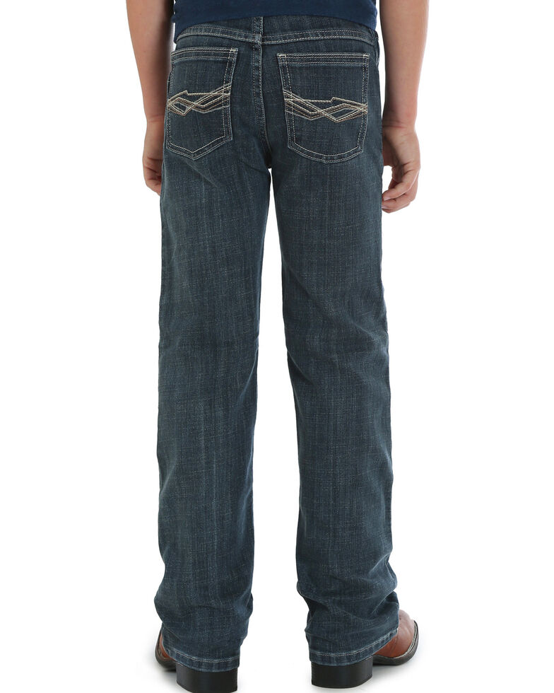 pocket bootcut stretch jeans faded vintage
