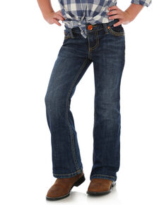 Wrangler Retro Girls' Denver Med Boot Jeans , Blue, hi-res