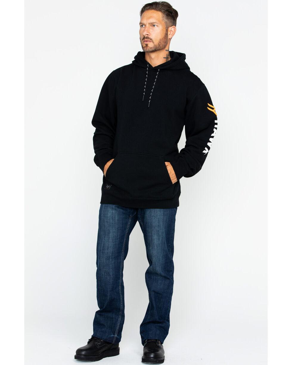 Hawx Men's Logo Sleeve Pullover Work Hoodie , Black, hi-res