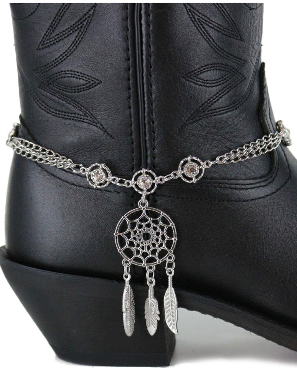 Shyanne® Women's Dream Catcher Boot Bracelet, Silver, hi-res