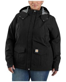 Carhartt Women's Black Storm Defender Shoreline Jacket - Plus, Black, hi-res