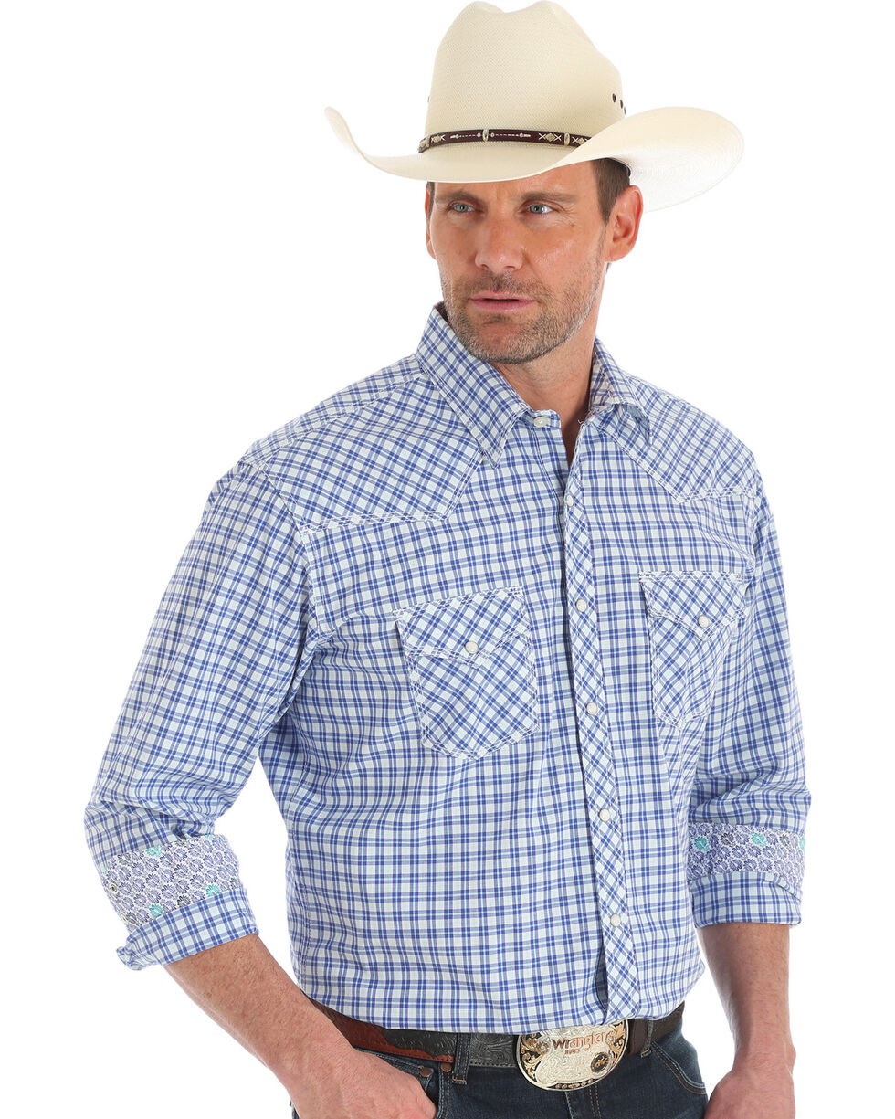 Wrangler Men's 20X Competition Advanced Comfort Western Shirt , Purple, hi-res