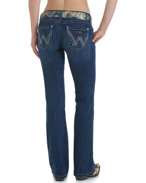 Wrangler Women's Premium Patch Sadie Boot Cut Jeans, Indigo, hi-res