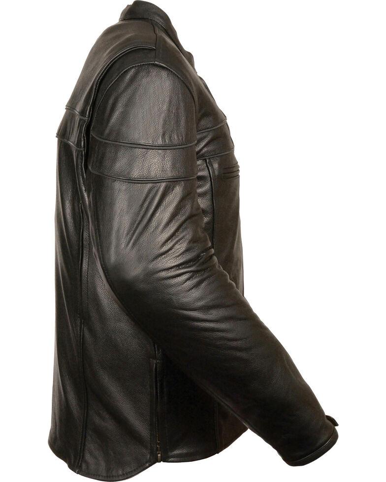 Milwaukee Leather Men's Black Sporty Scooter Crossover Jacket - Big - 3X, Black, hi-res