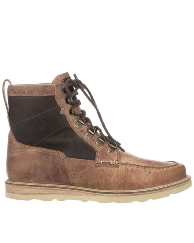 Lucchese Men's Lace-Up Range Boot - Moc Toe, Tan, hi-res