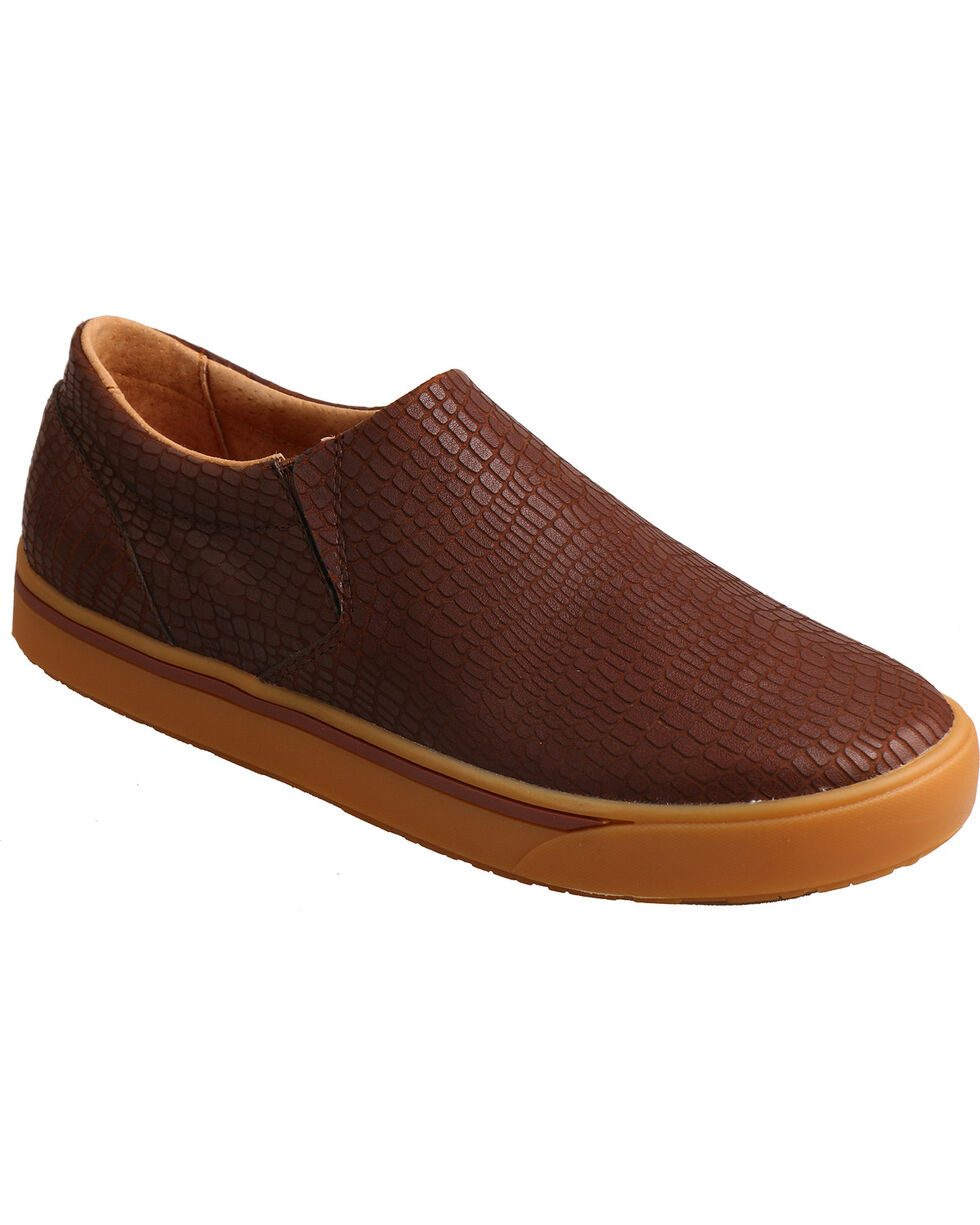 Twisted X Men's Pattern Slip-On Loafers, Brown, hi-res