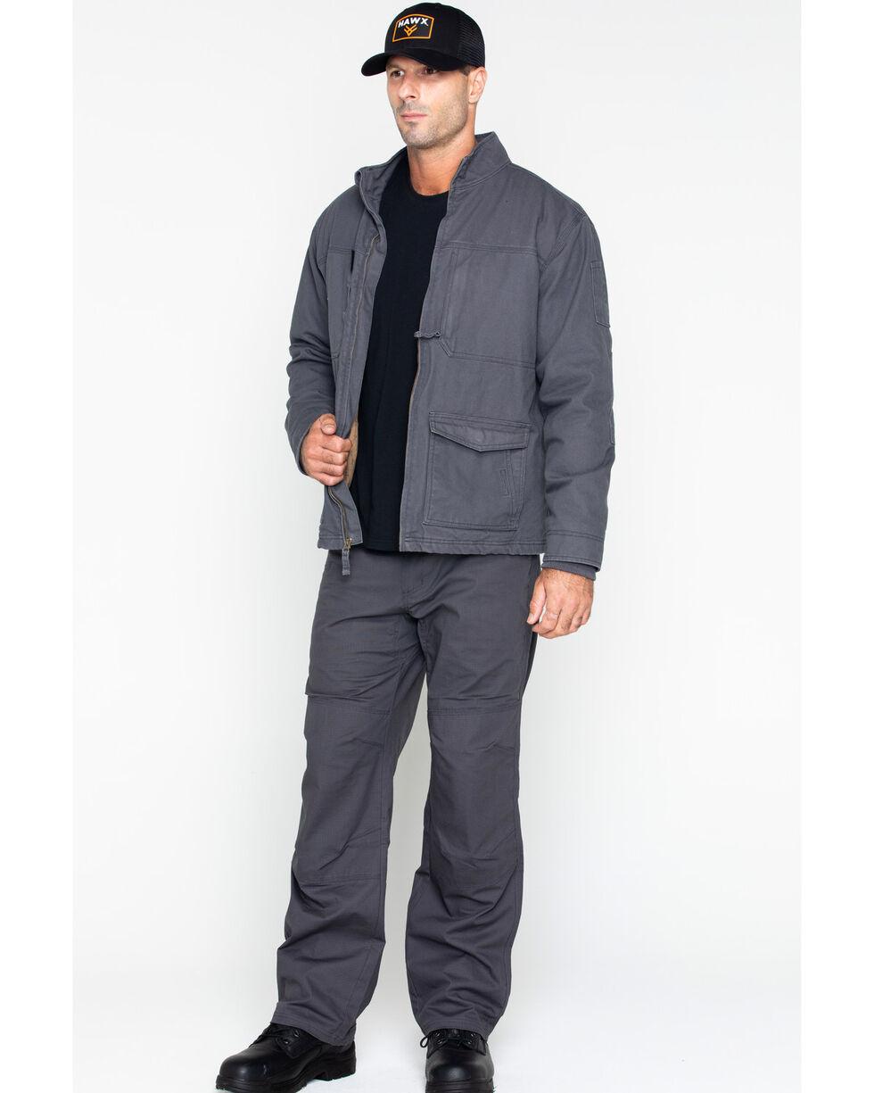 Hawx Men's Canvas Work Jacket - Big & Tall , Charcoal, hi-res
