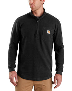 Carhartt Men's Tilden Long-Sleeve Half-Zip Pullover - Big, Black, hi-res