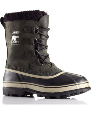 Sorel Men's Caribou Waterproof Winter Boots, Black, hi-res