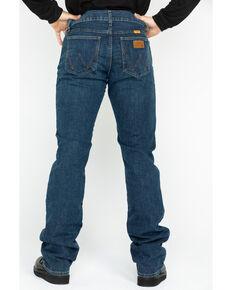 Wrangler Men's FR Advanced Comfort Slim Bootcut Work Jeans - Long, Blue, hi-res