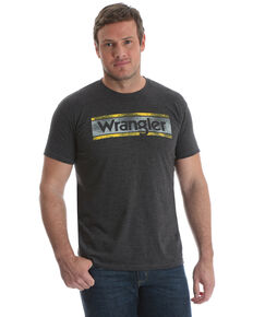 Wrangler Men's Charcoal Logo Graphic T-Shirt , Charcoal, hi-res
