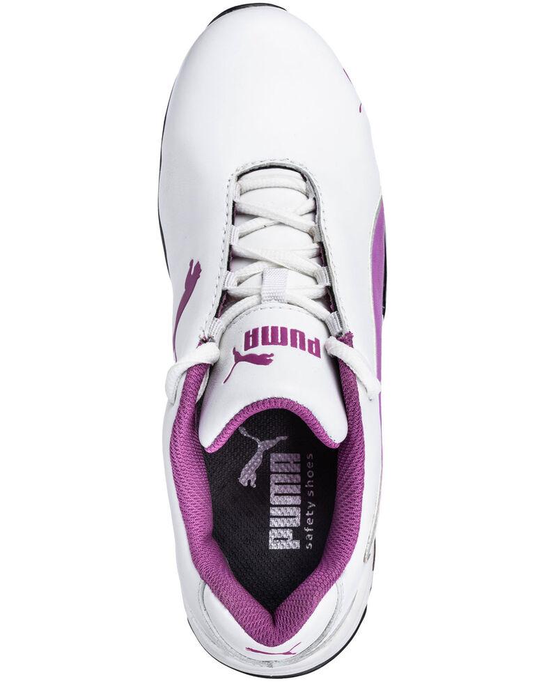 Puma Women's White Velocity Low Work Shoes - Steel Toe , White, hi-res