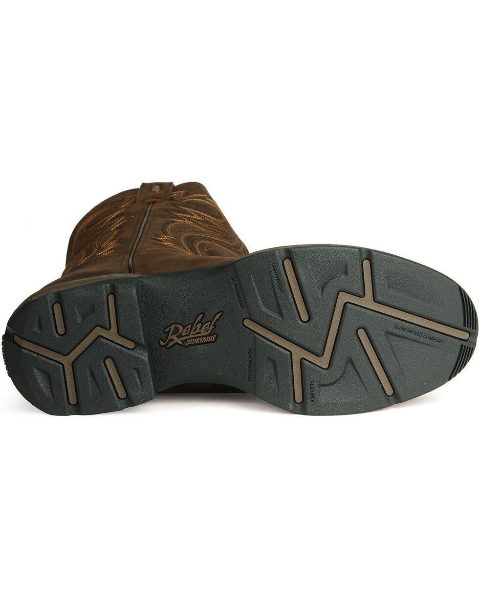 Durango Men's Rebel Round Toe Western Boots, Chocolate, hi-res