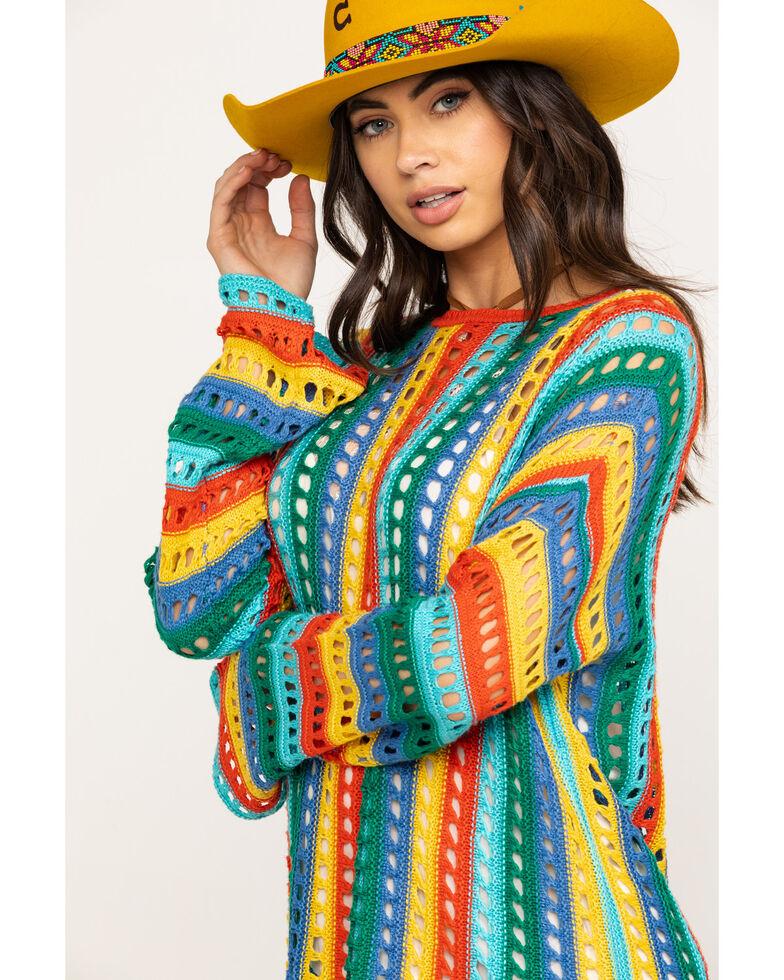 Show Me Your Mumu Women's Cruz Rainbow Tropic Knit Sweater, Multi, hi-res