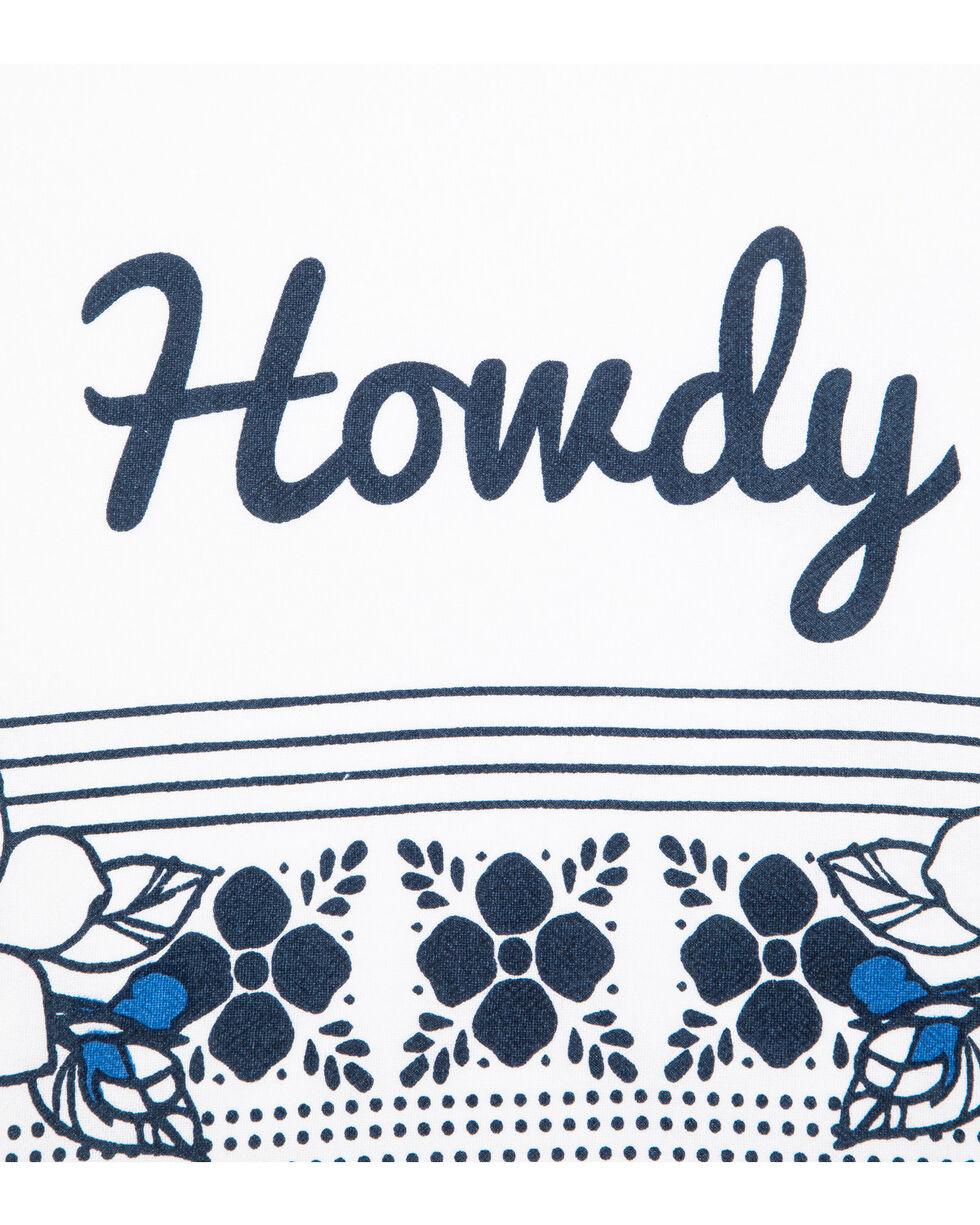 BB Ranch Howdy Floral Bandana Tea Towel, Blue, hi-res