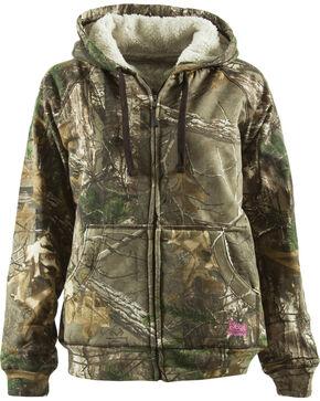 Berne Women's Camo Velvet Zip-Front Sweatshirt, Camouflage, hi-res