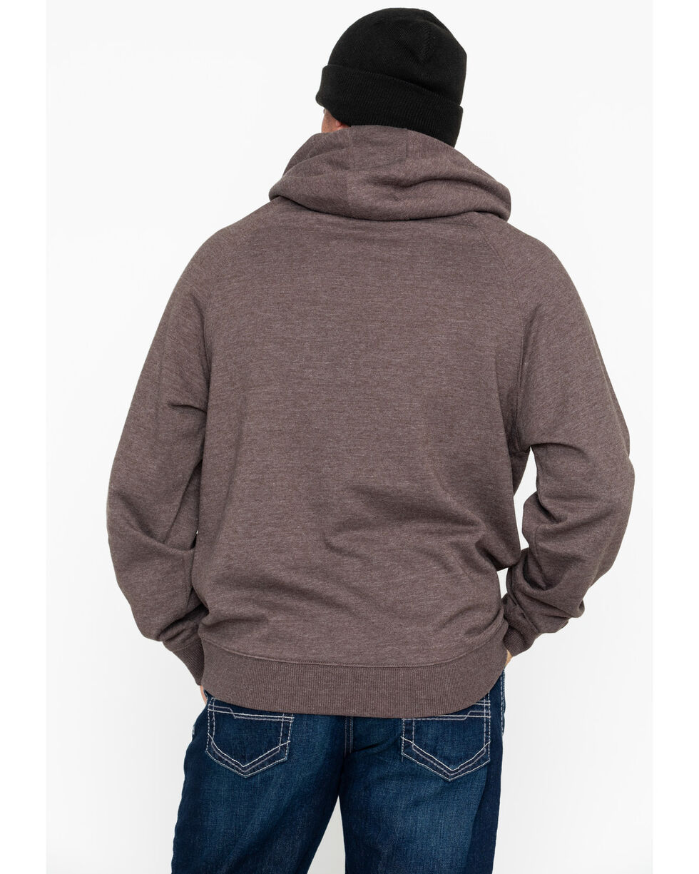 Cinch Men's Brown Fleece Logo Hoodie , Brown, hi-res