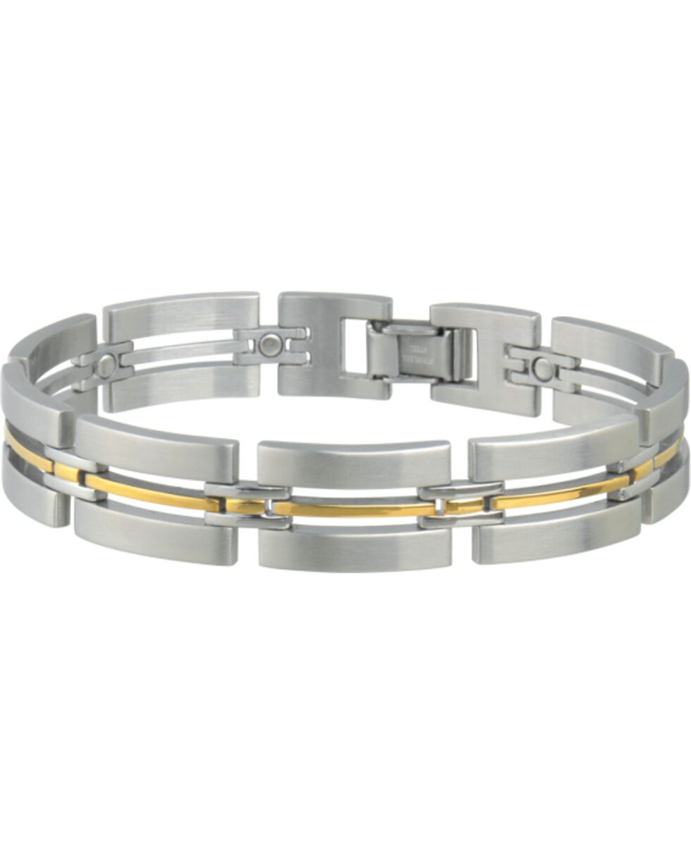 Sabona Men's Imperial Duet Magnetic Bracelet, Two Tone, hi-res