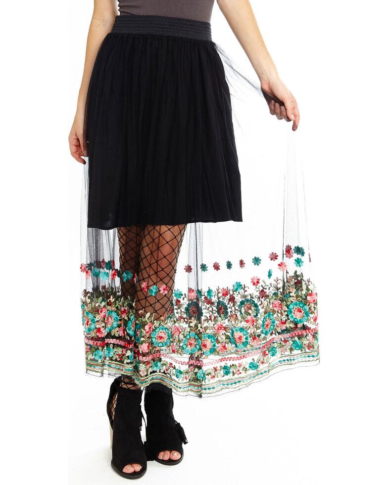 Aratta Women's Dancing Around Skirt, Black, hi-res