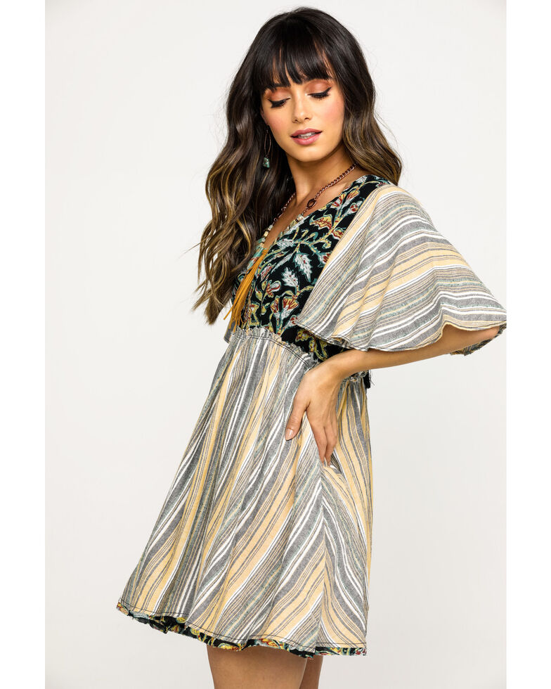 Free People Women's Under The Sun Tunic Dress, Black, hi-res