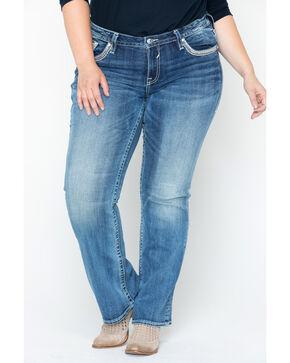 Vigoss Women's Bling Seguin Dublin Boot Jeans - Plus Size , Blue, hi-res