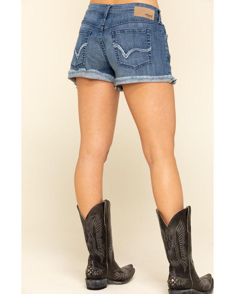 Ariat Women's Boyfriend Desperado Shorts, Blue, hi-res