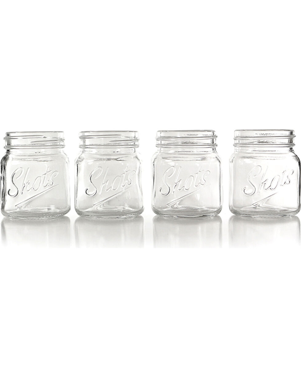 Barbuzzo Mason Jar Shot Glass Set, No Color, hi-res