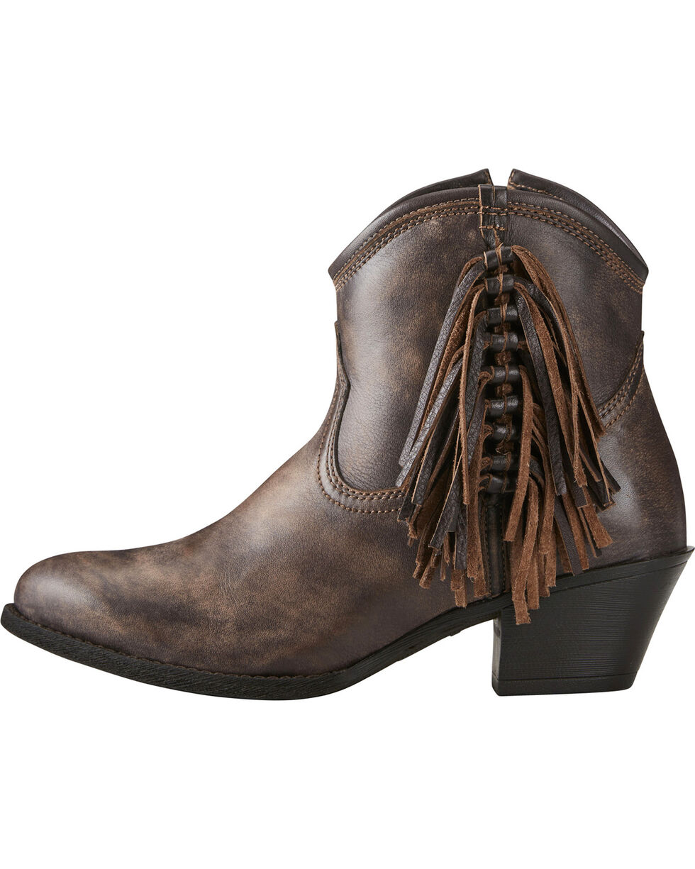 Ariat Women's Duchess Western Booties, Chocolate, hi-res