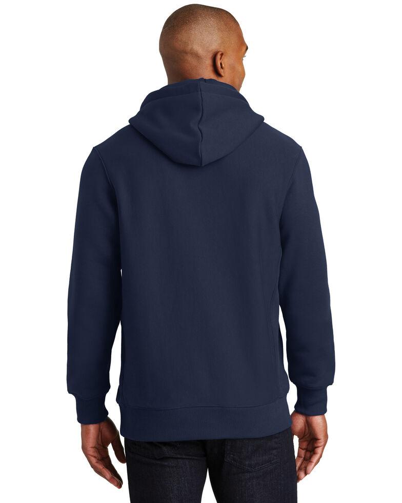 Sport Tek Men's Navy Super Heavyweight Hooded Work Sweatshirt , Navy, hi-res