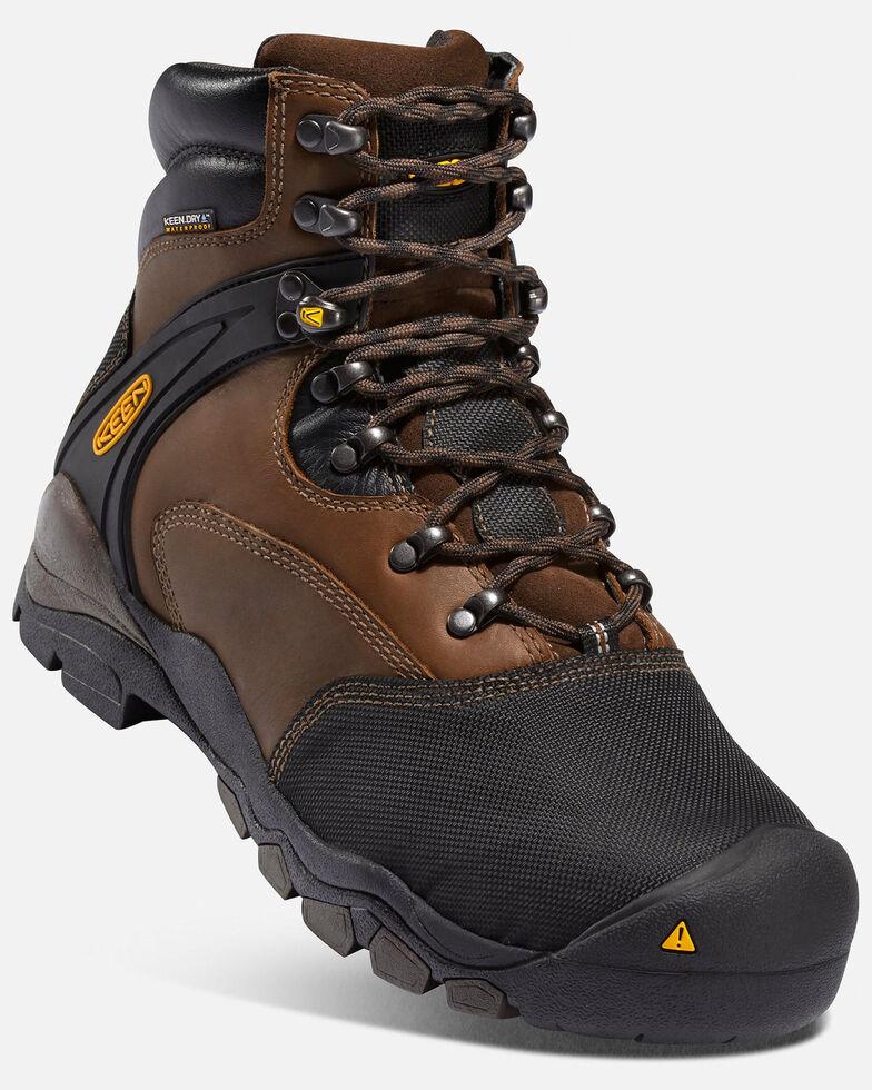 Keen Men's Louisville Met Guard Work Boots - Steel Toe, Brown, hi-res