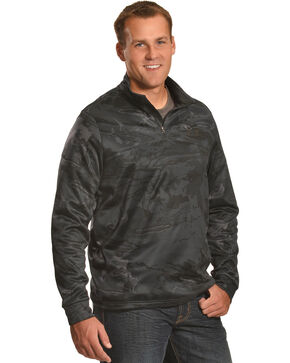 Under Armour Men's Franchise Camo 1/4 Zip Fleece Pullover , Black, hi-res