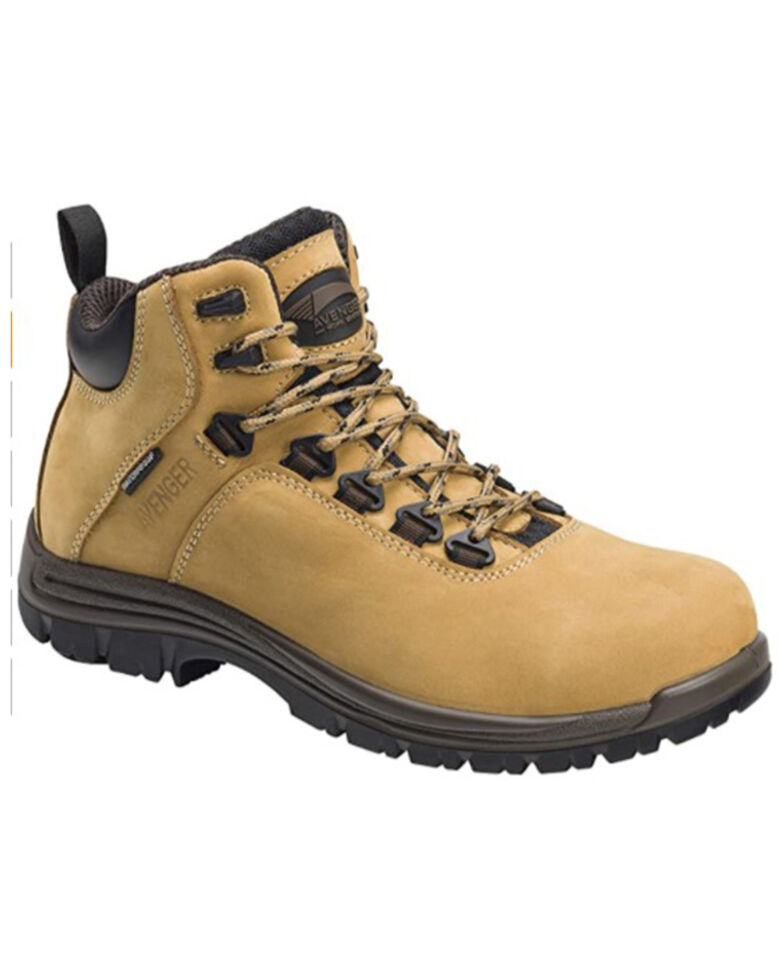 Avenger Men's Wheat Waterproof Work Boots - Composite Toe, Wheat, hi-res