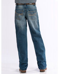 Cinch Boys' Medium Stonewash Relaxed Fit Boot Cut Jeans (4-7), Indigo, hi-res