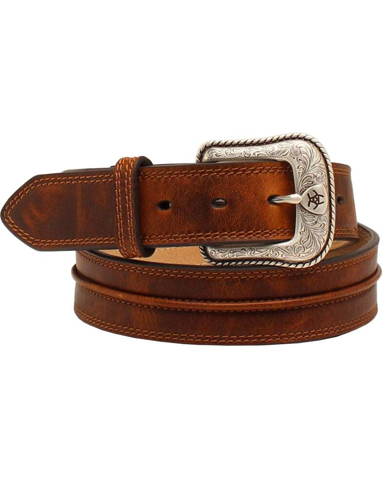 Ariat Men's Leather Belt, Aged Bark, hi-res