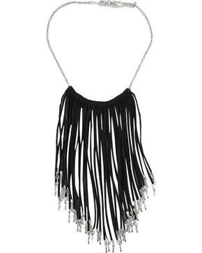Shyanne® Women's Fringe Necklace, Black, hi-res