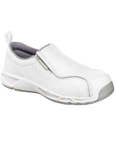 Nautilus Women's Slip-On Athletic Work Shoes - Composite Toe, White, hi-res