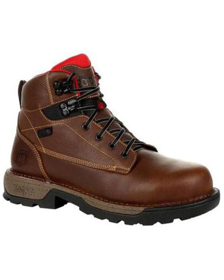 "Rocky Men's Brown Legacy 32 6"" Composite Toe Waterproof Work Boot , Brown, hi-res"