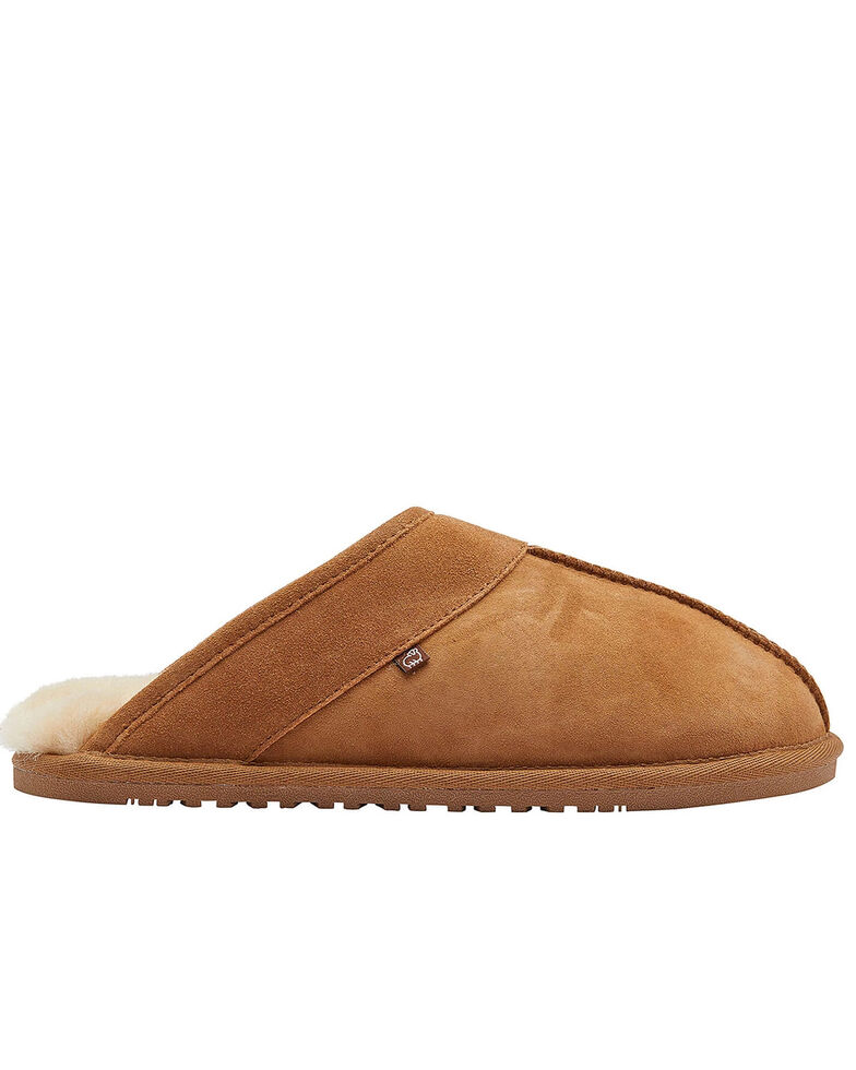 Lamo Footwear Men's Scuff Doubleface Slippers, Chestnut, hi-res